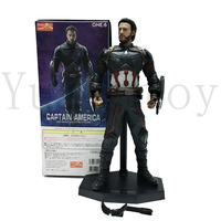 11inch Crazy Toy Marvel Avengers Captain American Statue Action Figure Model Toy Doll Gift