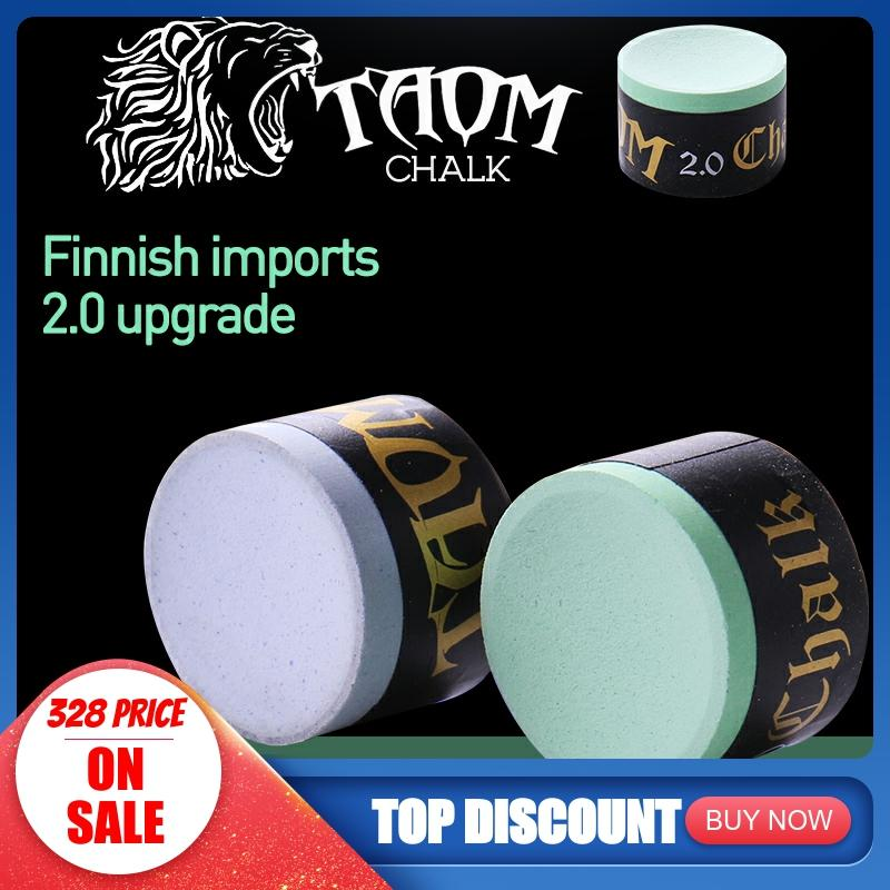 Original TAOM Chalk Round Blue Green Colors Billiard Chalk Pool Chalk Billiard Accessories Snooker Chalk Professional Cue Chalk
