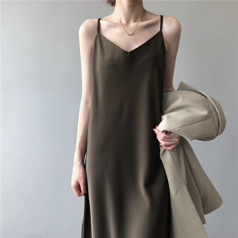New Arrival Women V-Neck Sleeveless Women Dress Y5702 Vintage Satin Summer Long Dress Boho Elegant Women Casual Dress Vestidos (14)