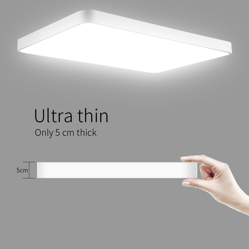 48 Вт ультра тонкий квадратный светодиодный потолочный светильник для ванной комнаты кухня гостиная лампа день/теплый белый Диммируемый