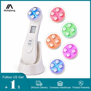 Image 1 - Anti Aging Radiofrequency Mesotherapy 5 in 1 LED Skin Tightening RF&EMS Face Lifting LED Photon Galvanic Beauty Skin Care Tools