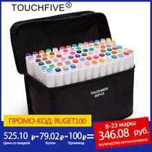 TouchFive 12/24/36/48/60/80/168 Farben Kunst Marker Pen Alkohol Basierend Marker Dual Headed Tipps für Manga Zeichnung Marker Stift