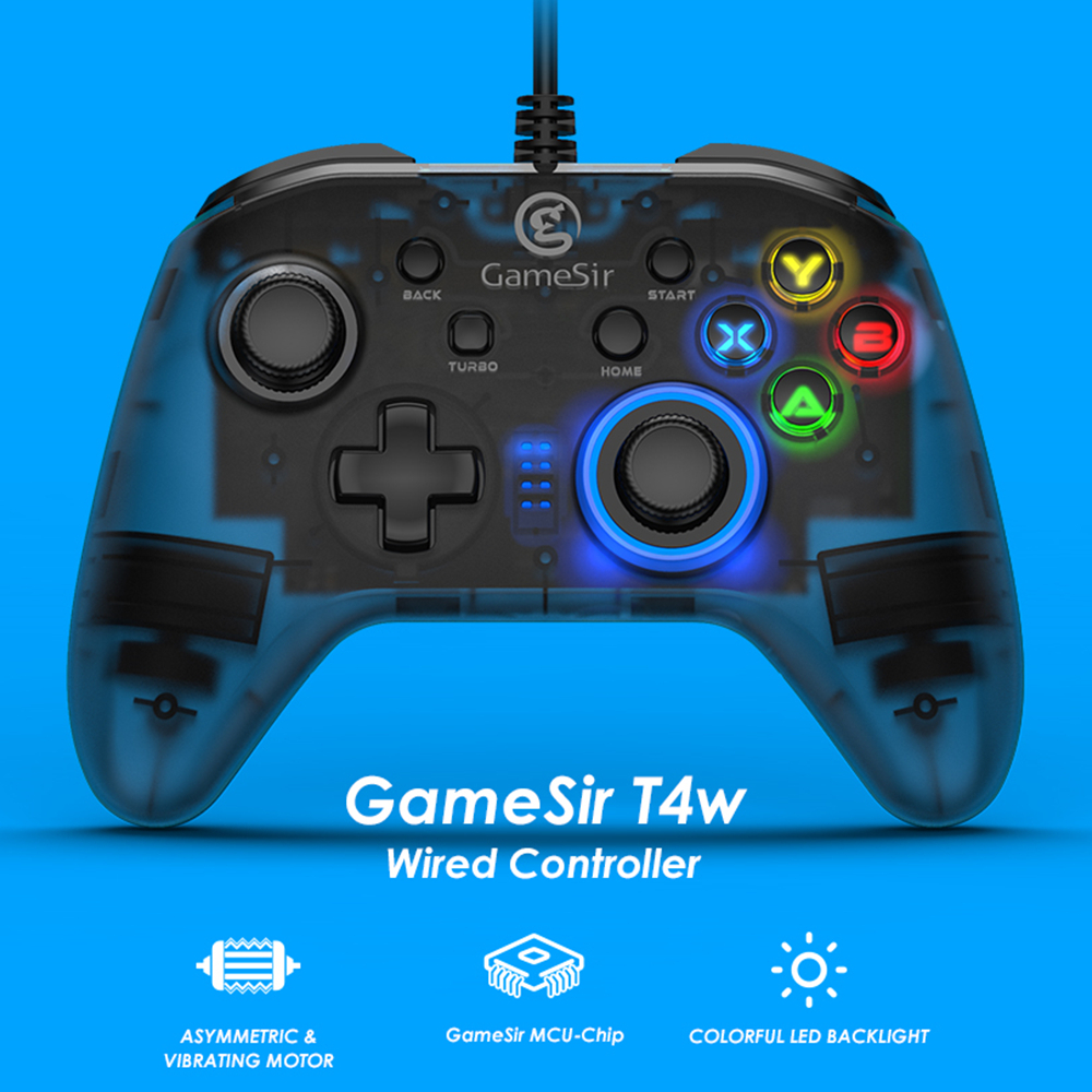 GameSir T4w USB Wired Game Controller for Windows 7/8/10 PC Gamepad with Vibration and Turbo Joystick for Steam Games|Gamepads| - AliExpress