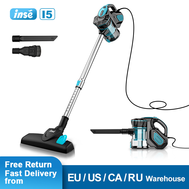 Vacuum Cleaner Corded INSE I5 18kpa Powerful Suction 600W Motor Stick Handheld Vaccum Cleaner for Home Pet Hair Carpet