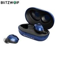 Hot Sale Blitzwolf FYE5 Bluetooth 5.0 TWS True Wireless Earphone Headphones Sports Earbuds HiFi Bass Stereo Headsets IPX6 Waterproof Passive Noise Canceling Pocket Sized Earbuds Handsfree Men Women Blue Black