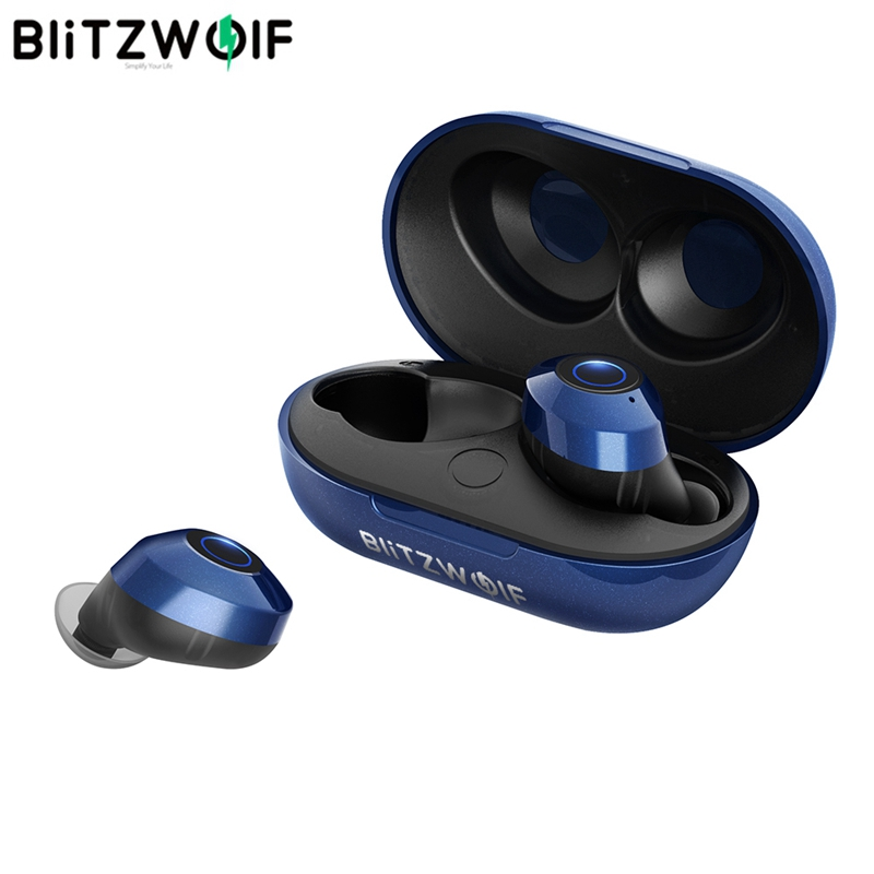 Hot Sale Blitzwolf FYE5 Bluetooth 5.0 TWS Verdadeiro IPX6 Esportes Fones de Ouvido Fones de Ouvido Estéreo de Alta Fidelidade de Graves Fone de Ouvido Fones De Ouvido Sem Fio À Prova D' Água Passiva handsfree fone