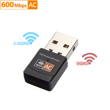 USB WiFi Adapter 2.4GHz 5GHz 600Mbps WiFi Antenna Dual Band 802.11b/n/g/ac Mini Wireless Computer Network Card Receiver(China)