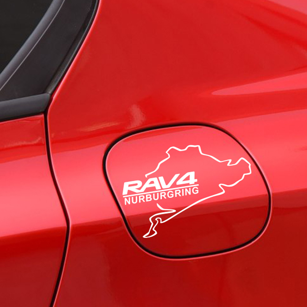For Toyota RAV4 Car Racing Nurburgring Fuel Tank Cap Sticker Reflective Vinyl Stickers and Decals Auto Car Exterior Accessories