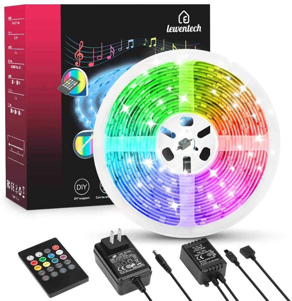 LED Strip Light  5m/150leds RGB SMD 5050 LED Rope Lighting Color Changing Full Kit With 44-Keys IR Remote Controller And  Power