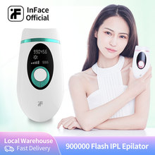IPL Epilator Hair-Remover Flash Threading Painless Permanent Inface 900000 Electric Body