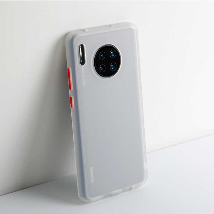 マットシリコーン耐震バンパー電話ケース Huawei 社 Y5 Y6 Y7 Y9 プライム 2019 メイト 20 30 Lite のためのカバー p20 P30 プロノヴァ 3i 6 SE