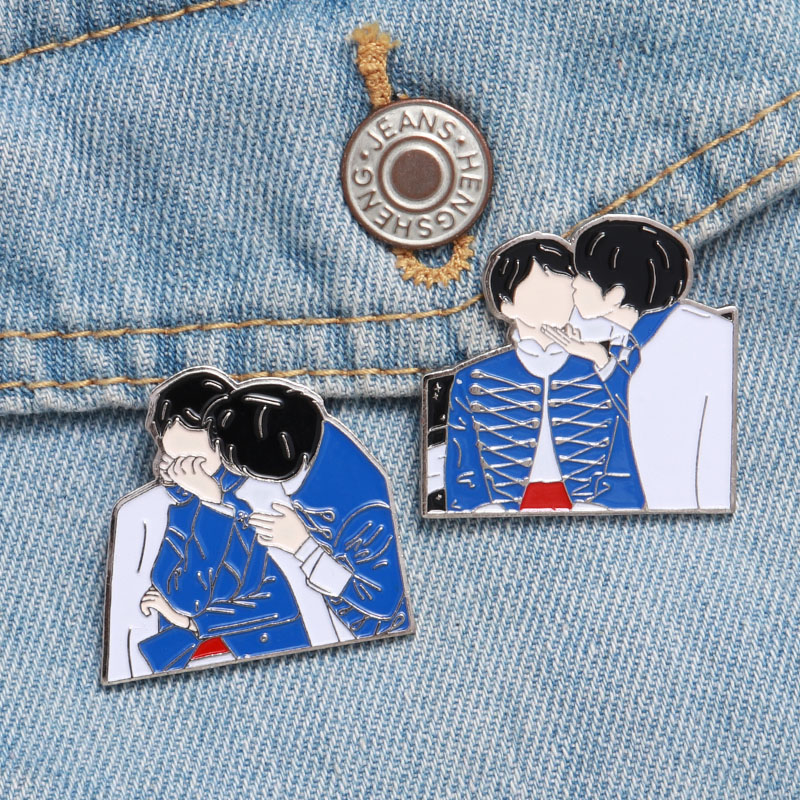 Metal Badge Brooch Jewelry Lapel-Pins Kpop-Accessories Enamel Pin Kpop Bangtan Gift