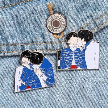 KPOP эмалированная булавка Bangtan мальчики значки на лацкан, металлическая брошь значок Kpop аксессуары ювелирные изделия подарок для фанатов