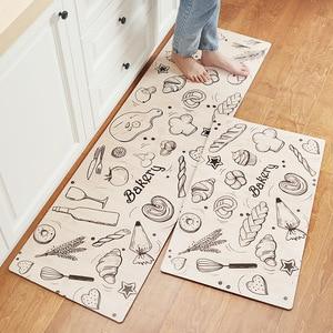 Image 3 - אנטי להחליק מטבח ארוך מחצלת אמבטיה שטיח מודרני קריקטורה מסדרון כניסת שפשפת Tapete שמן הוכחה שינה סלון רצפת מחצלות