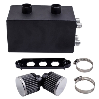 Oil Catch Can Breather for Honda Civic Acura Integra 10An 4 Port Pro Series