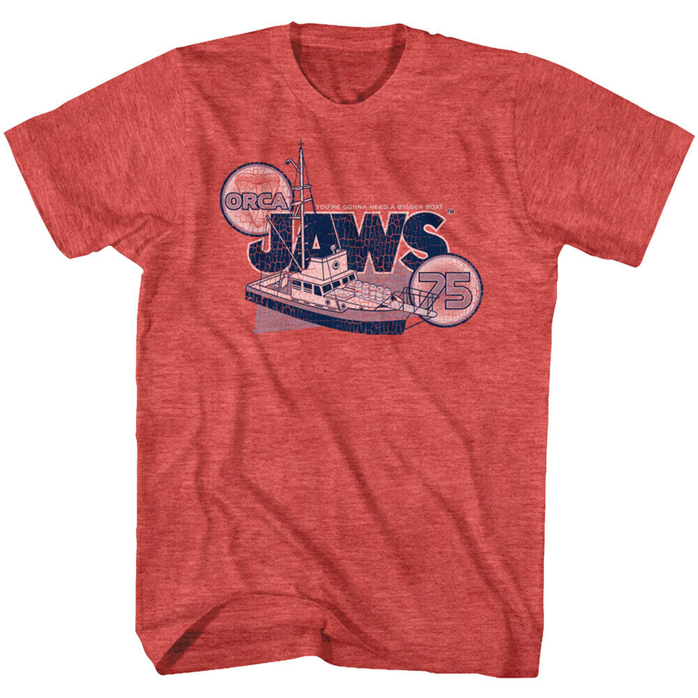 Jaws Orca Boat 1975 Men'S T Shirt Amity Island Shark Movie You'Re Gonna Need Big Fitness Tee Shirt image