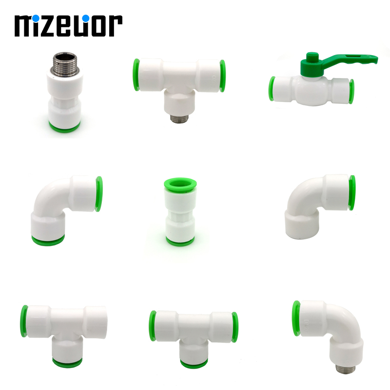 Inner Dia 20mm White Fast Pvc Joint Aquarium Agricultural Sprinkler Irrigation Garden Water Pipe Connector Pipes Fittings