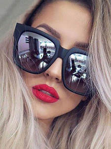 SIMPRECT Sunglasses Square Shades Vintage Retro Zonnebril Dames Women for Big