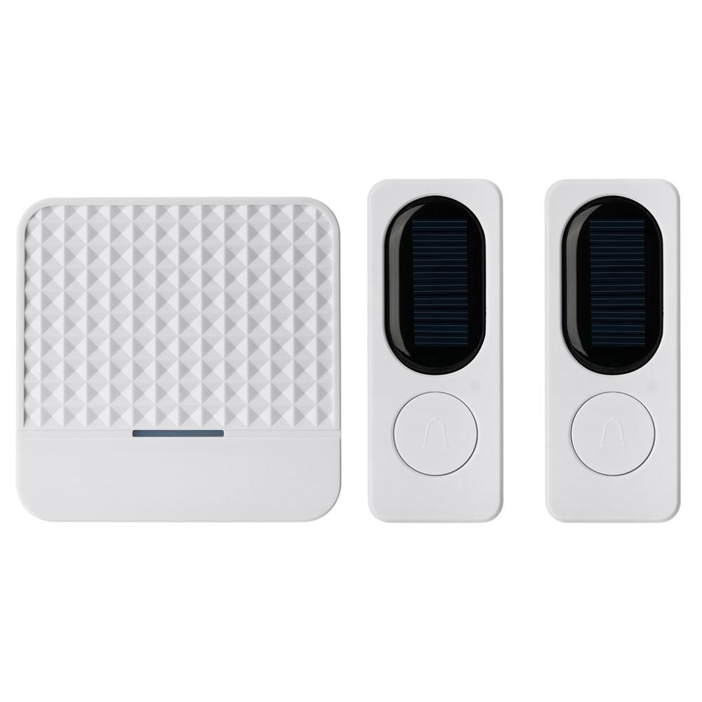 Wireless Solar Doorbell Remote Wireless Doorbell Waterproof Doorbell LED Night Light Doorbell