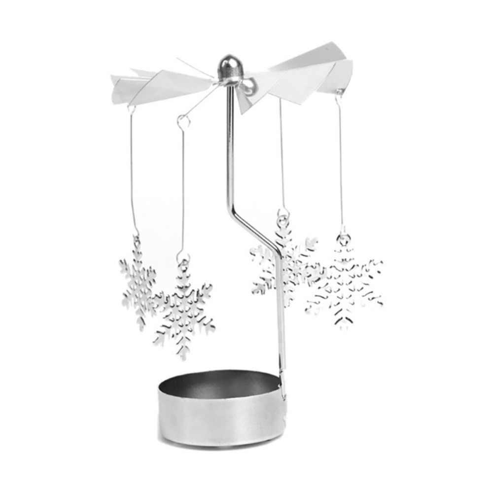 פתית שלג סיבוב פמוט פרפר פמוטים תה אור מחזיק DIY מסיבת שולחן שולחן תפאורה חג המולד מתנה