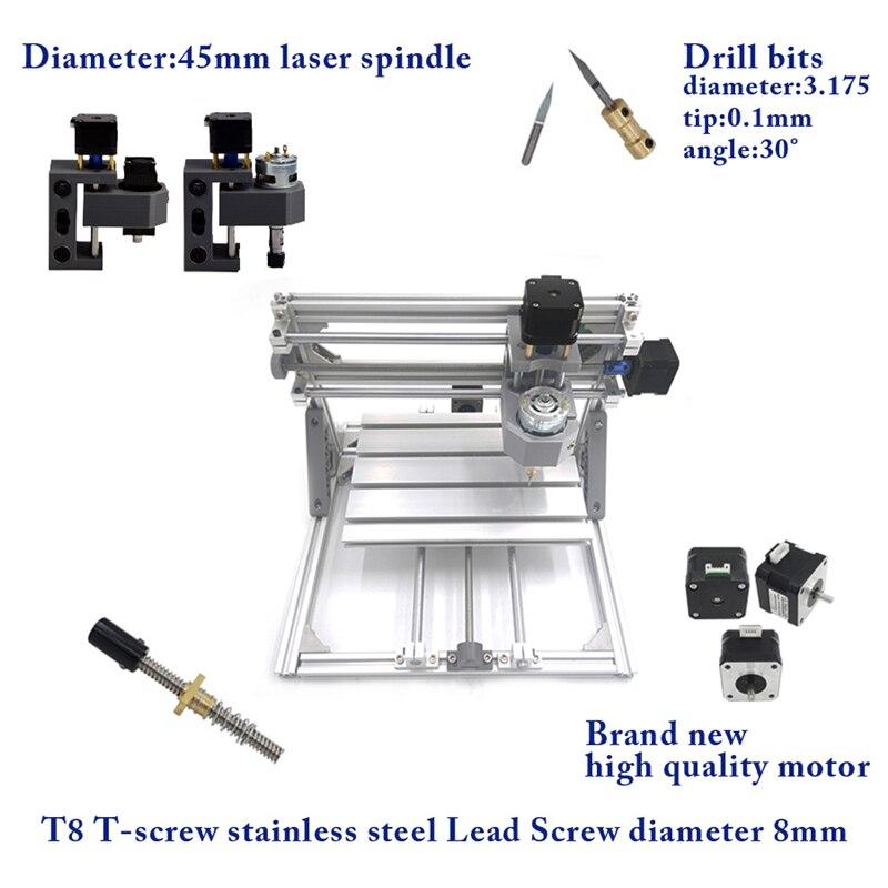 DIY Mini Laser Cutting Machine 2 In 1 GRBL Control CNC1610 PRO 500mw Laser PCB Engraving Machine