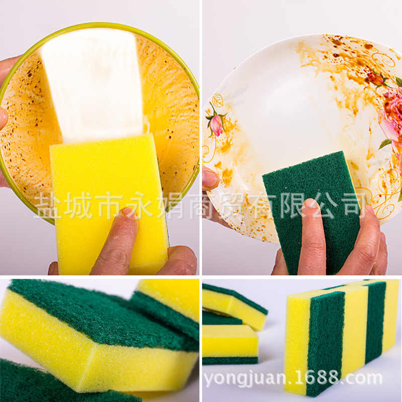 5 10pcs Sponge Magic Wipe Dish Sponge Kitchen Clean Scouring Cloth Dish Washing Sponge Kitchen Cleaning Tools 2019 Hot Clean Up in Cleaning Brushes from Home Garden
