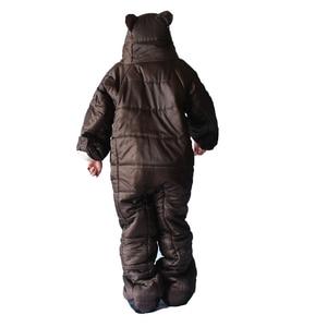 Image 5 - Winter Bear Sleeping Bag Ultralight Cotton Camping Outdoor Polar Adults Cold Weather Lightweight Mummy Sleeping Bag Pads Hiking