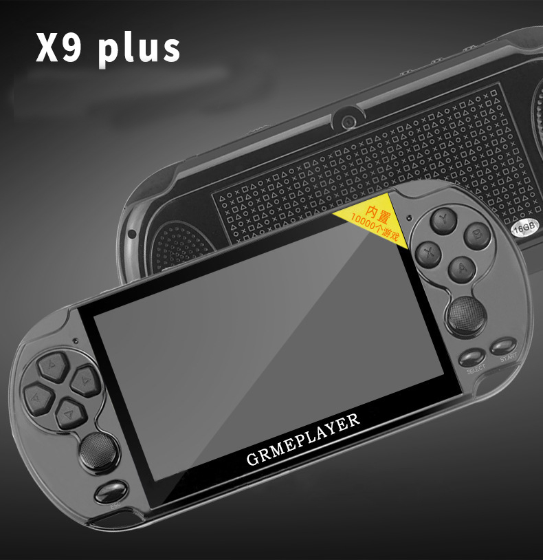 """new 32/64/128 Bit 5"""" LCD X9 plus Double rocker 16G Handheld Retro Game Console Video MP5 TF Card for GBA/NES 10000 games"""