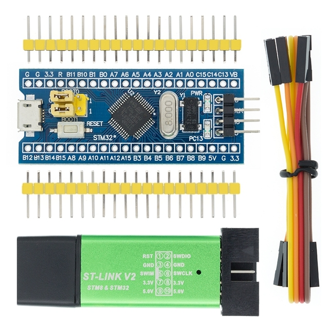 10PCS Original STM32F103C8T6 ARM STM32 Minimum System Development Board Module ST Link V2 Mini STM8 Simulator Download