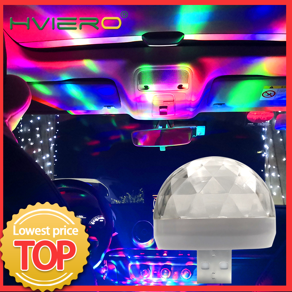 Auto Led USB Led Ambient Light DJ RGB Mini Colorful Music Sound Light USB-C Interface Apple Interface Holiday Party Karaoke Lamp