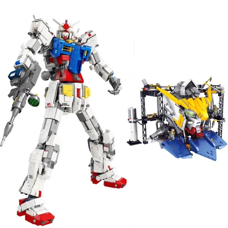 DHL super robot guerre méca classique gundam modèle 18K-RX78-2 1: 60 3500 pièces support fixe bloc de construction briques jouets de noël