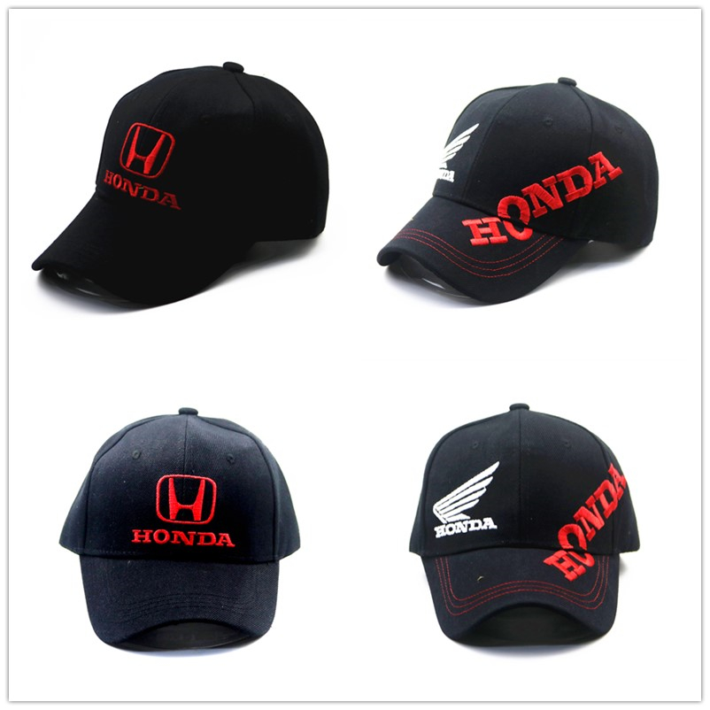 Cross-country Motorcycle Riding Knight Locomotive Parkour Racing Duck Tongue Baseball Cap For Honda Hat Wing Side English