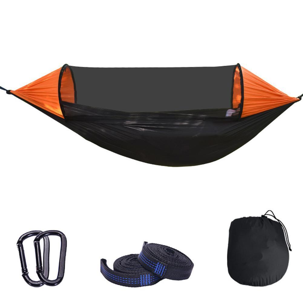 Large Camping Hammock with Mosquito Net 2 Person up Parachute Lightweight Hanging Hammocks Tree Straps Swing Hammock