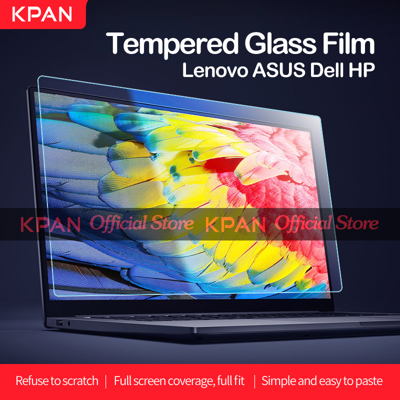 KPAN 16:9 Universal HD Tempered Glass Film Laptop Screen Protector 12 13 14 15 17 Inch HP Pavilion x360 Asus Dell Acer Nitro 5