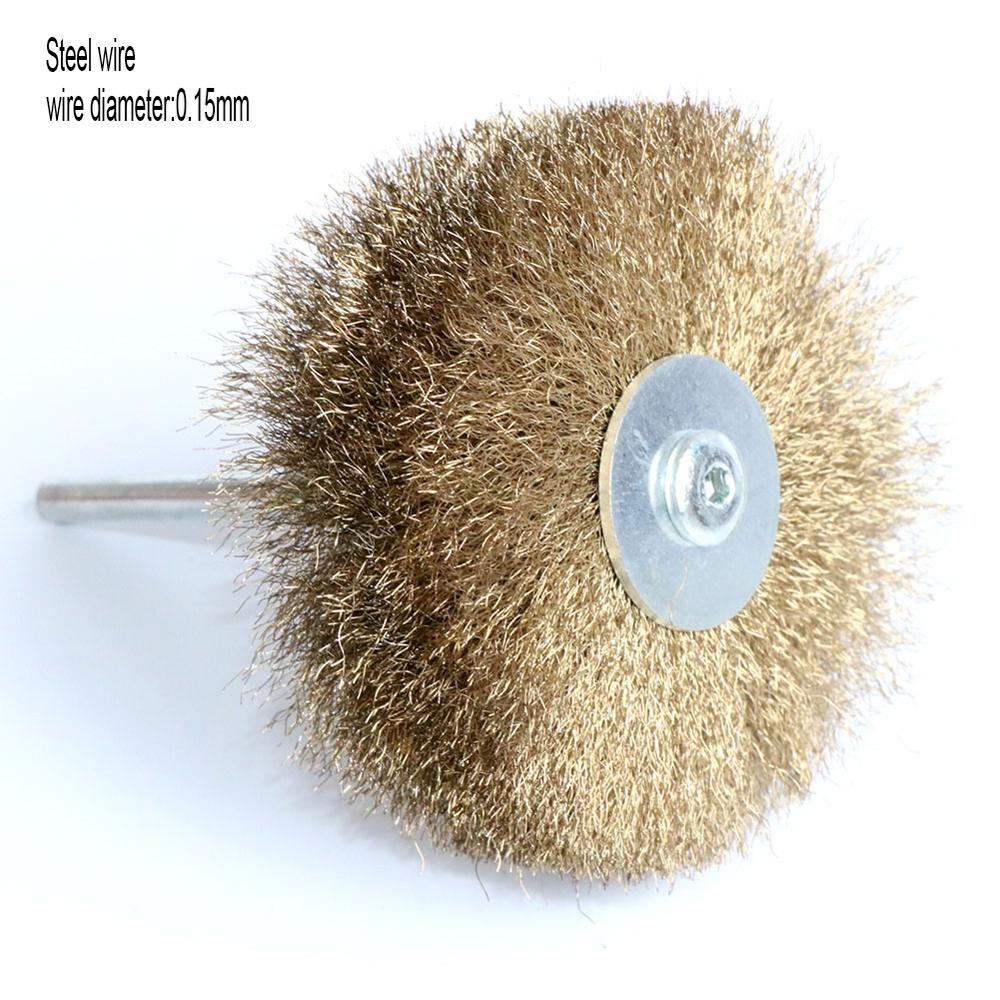 80mm Copper Wire Wheel Soft Brass Brush For Rotary Tools Grinder Metal Polishing