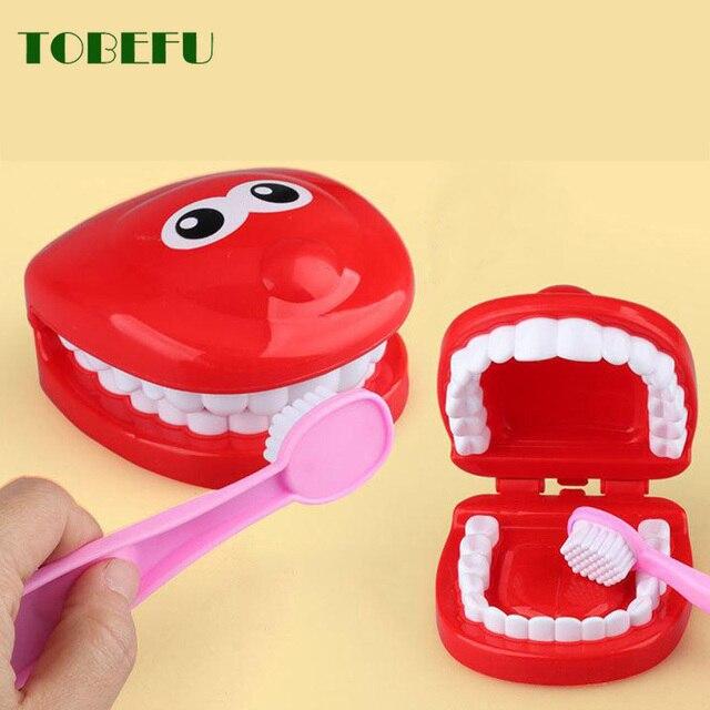 9 pièces semblant jouer jouet dentiste vérifier les dents modèle ensemble fournitures médicales Kit éducatif jeu de rôle docteur jouets pour les enfants