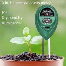 Planta solo ph tester 3 em 1 jardim umidade medição luz de umidade hidroponia analisador detector higrômetro para a flor ao ar livre