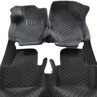 For Ford Ranger Car Floor Mats Leather Auto Floor Mats Black Auto Accessories Front & Rear Liner Carpet Floor Mats Interior