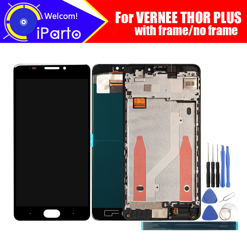 Vernee THOR PLUS LCD Display Touch Screen Digitizer 100 Original Tested LCD Screen Glass Panel For
