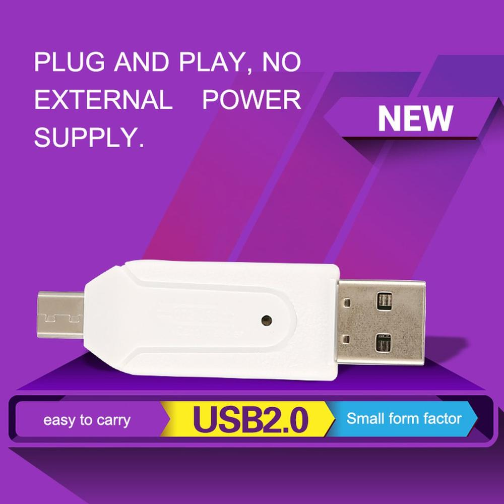 Memory-Card-Reader Adapter Sd/micro-Sd-Card To Small Usb-2.0 Form-Factor OTG Easy-To-Carry
