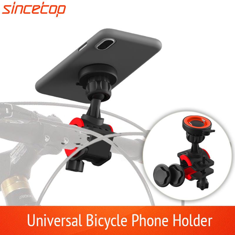 Universal Quick Mount For Bike Phone Holder Bicycle Bracket Clip Can Rotated Stand For IPhone For Huawei For Sumsung Cellphone