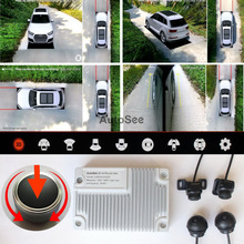 3D Key-Queen Car 360 Camera SVM All round View monitoraggio DVR panoramica 1080P con telecomando jog, può riempire il numero di licenza
