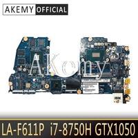 SAMXINNO CAL53 LA-F611P Laptop anakart Dell G3 15-3579 3579 orijinal anakart I7-8750H GTX1050