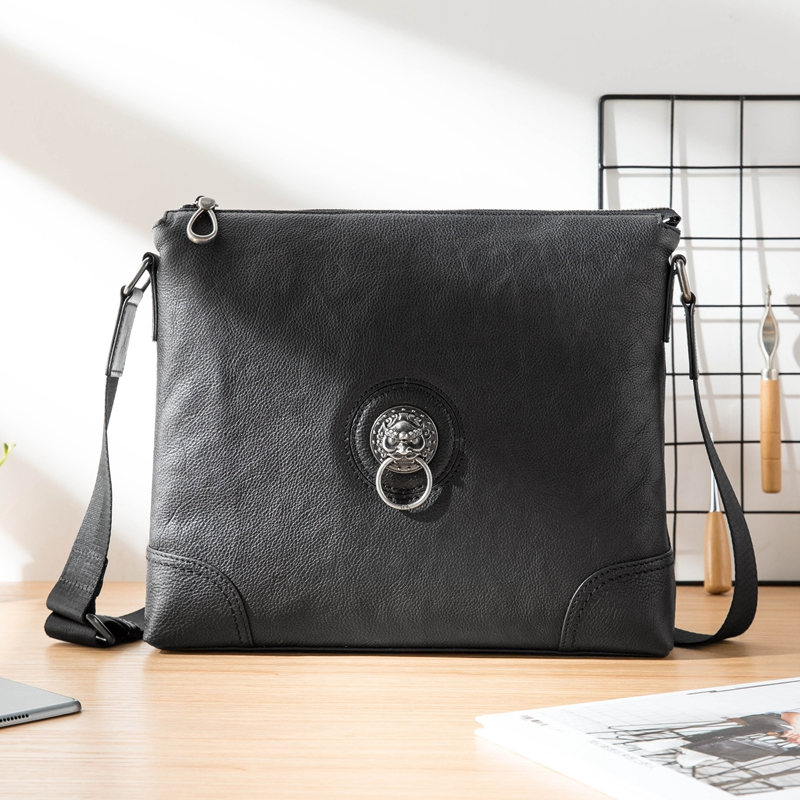 New Leather Messenger Bag Men's Shoulder Bag Men clutch Bag black Leather Business male Casual Soft Leather small crossbody bag