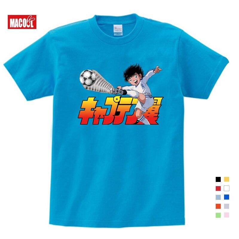2020 Anime Captain Tsubasa T Shirt Children Leisure Short Sleeve T Shirt Boy Football Motion T-shirts for Boys Girls Clothes