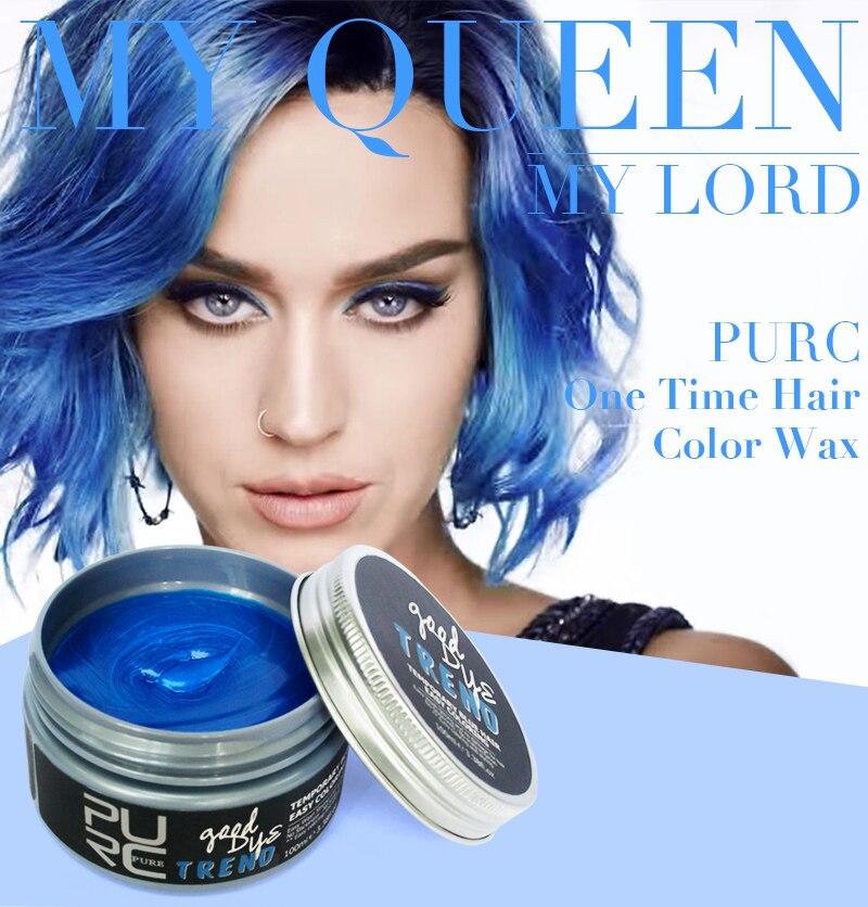 Tintura de cabelo temporária popular, coloração roxa