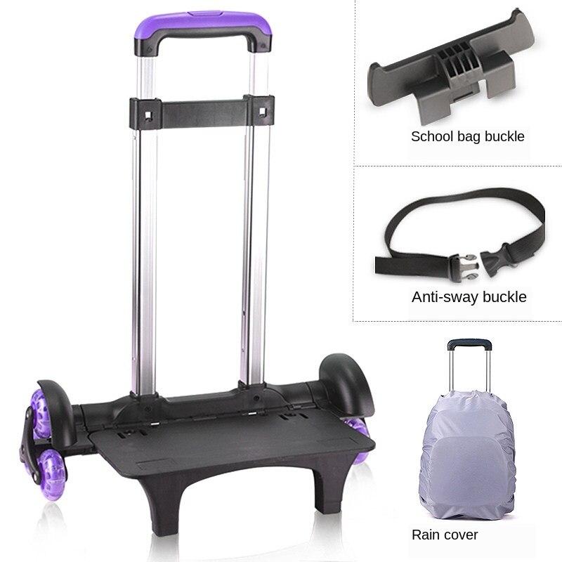 E-FOUR enfants sacs à dos roulants bagages Six roues chariot sacs d'école Fanspack rouleau sac à dos pour enfants sac d'école à roulettes Primar