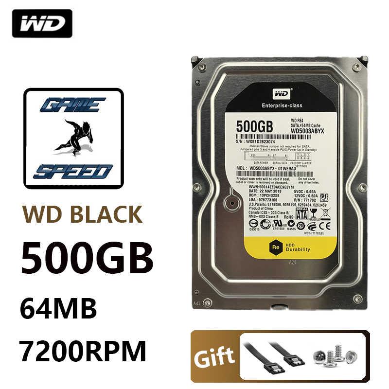 WD שחור 500G דיסק קשיח כונן שולחן העבודה משחק גיימר משחקי hdd hd מכאני שחור דיסק SATA3 יציאה טורית 7200 RPM 64MB