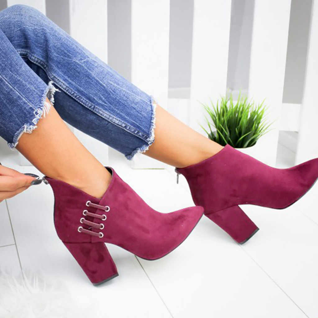 Chelsea Enkellaars voor Vrouwen Herfst Winter Dames Schoenen Mode Sexy Effen Kleur Wees Teen Enkele Korte Laarzen botas mujer