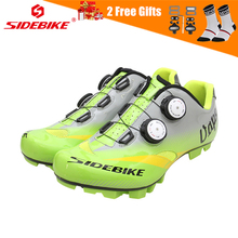 SIDEBIKE Men Self-locking Road Mountain Bike Shoes MTB Anti-slip Breathable Cycling Bicycle Shoes with Carbon or Nylon Sole sidebike men mountain bike shoes cycling road bicycle mtb shoes breathable wear resistant self locking cycling sneakers white